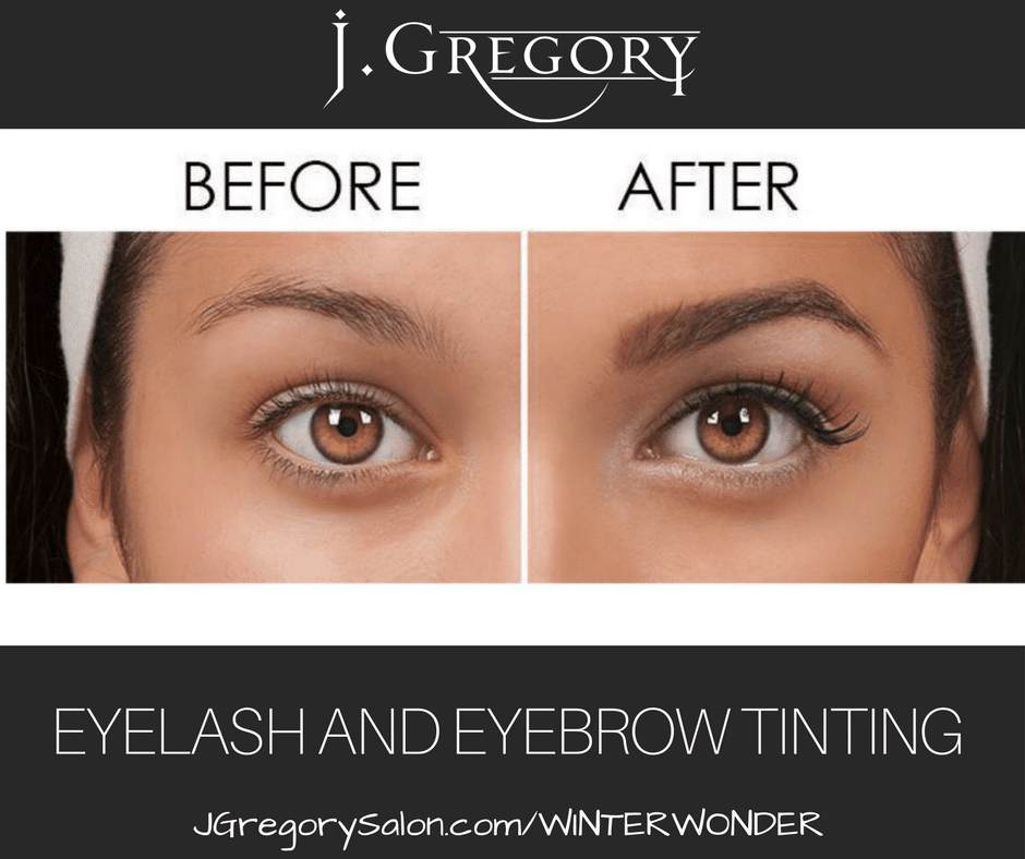 Eyelash And Eyebrow Tinting J Gregory Salon Of Colorado Springsco