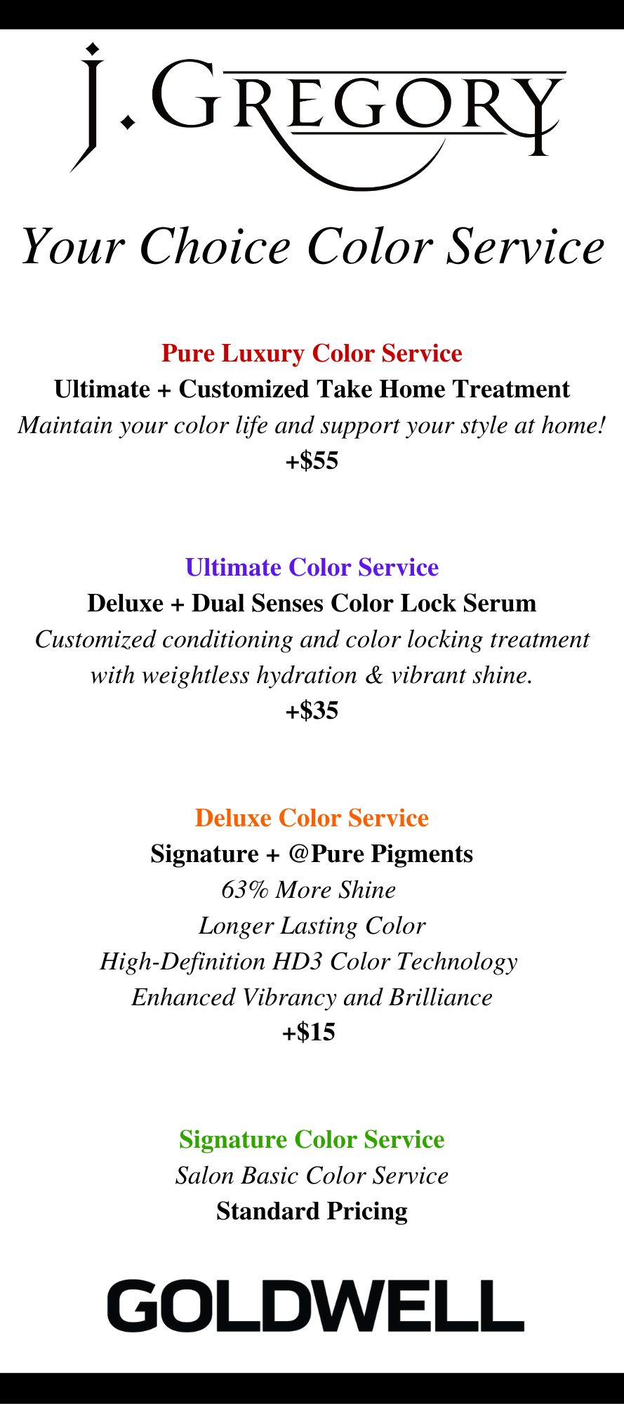 your choice color service